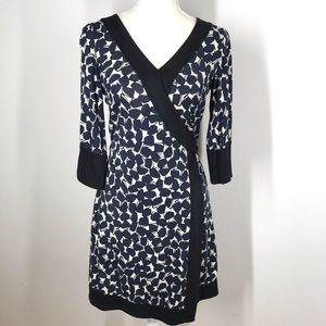 diane von furstenberg Geometric Silk Wrap Dress